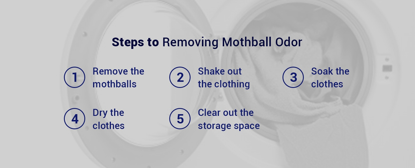 steps to removeing mothball odor from clothing