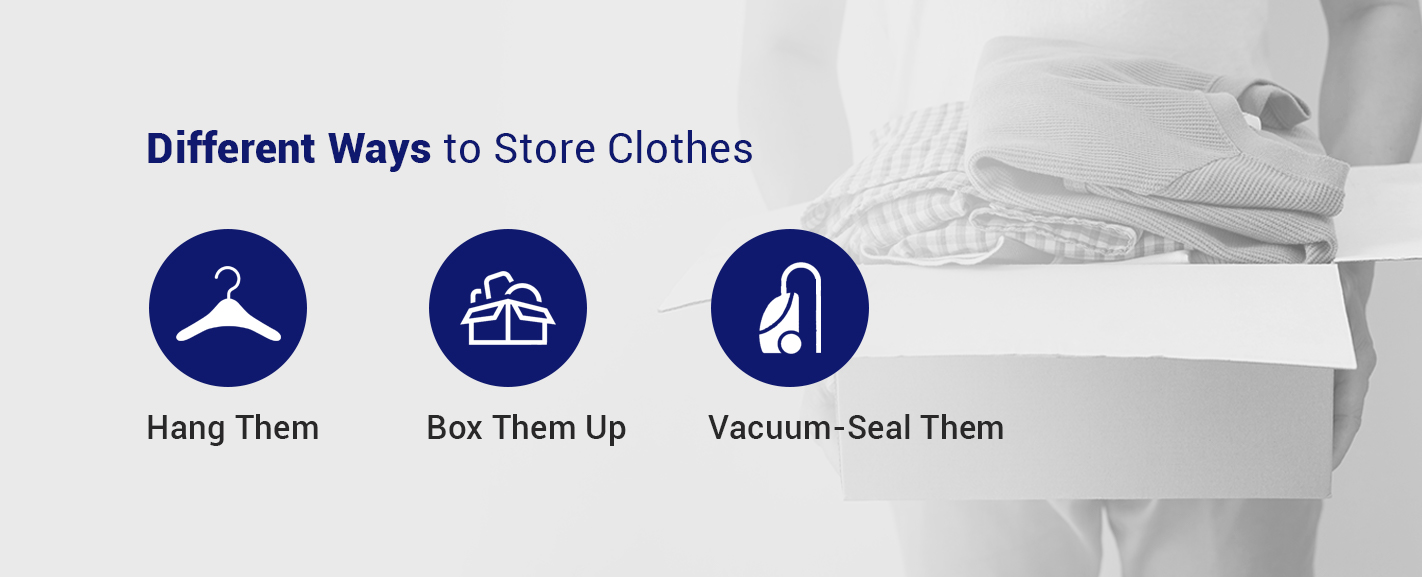 Different ways to store clothes