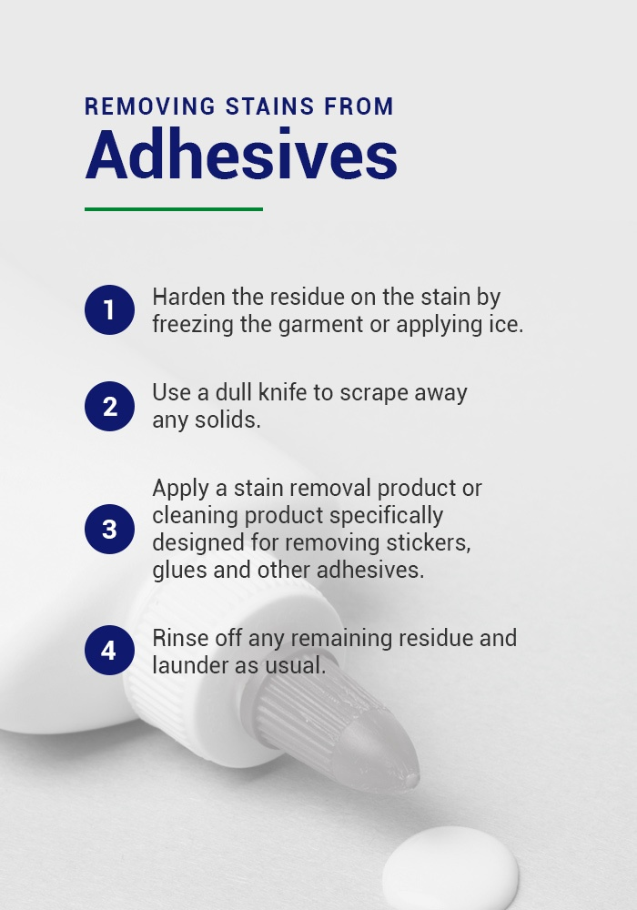 how to remove adhesive stains from clothing