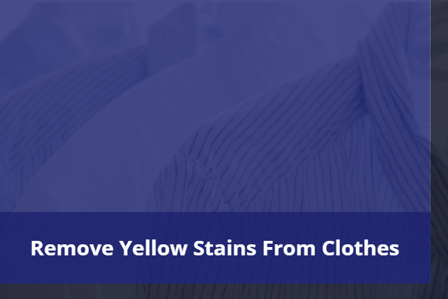 Remove yellow stains